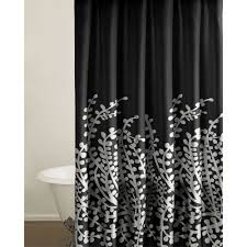 Silver And White Shower Curtain Black And White Shower Curtain Set Gorgeous Home 15pc Black