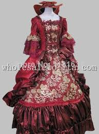 Marie Antoinette Halloween Costume Aliexpress Buy 17 18th Century Baroque Rococo Dark Red Marie