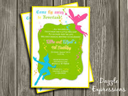 fairy and boy double party birthday invitation printable