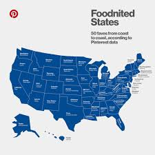 Boring Oregon Map by This Map Shows The Most Pinned Foods In Every State According To
