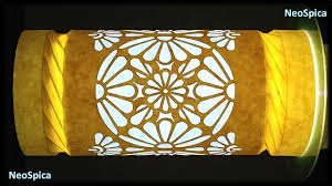 art deco design paper lamp tube spiral folding art deco design cut out youtube
