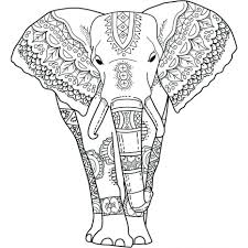 elephant acts coloring page handipoints cute pictures to color
