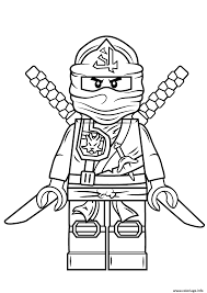 Coloriage Lego Ninjago Green Ninja Vert dessin