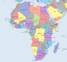 africa map study africa political map study