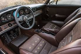 vintage porsche interior a lovely pair of porsche 911s by singer showed up at pebble