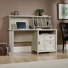 sauder 420606 palladia l desk vo a2 computer vintage oak amazon com sauder edge water computer desk with hutch in chalked