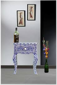 animal leg side table online furniture blue bone inlay curved legs one drawer side tables