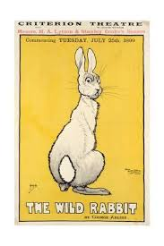 rabbit poster the rabbit poster 1899 giclee print by j hissin at