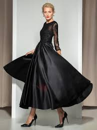 modern mother of the bride dresses tea length with sleeves modern appliques sequined 3 4 length sleeve tea length evening