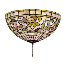 stained glass ceiling light fixtures shop meyda tiffany turning leaf 3 light mahogany bronze incandescent