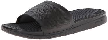amazon com mens nike benassi solarsoft slide black grey black