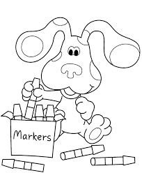 blue clues coloring pages print