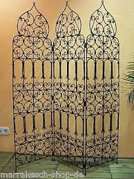 Wrought Iron Room Divider by Moroccan Oriental Mediterranean Garden Room Divider Screen