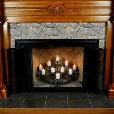 Candelabra Home Decor Decorating Unique Black Fireplace Candelabra Made Of Metal For