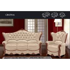 cristina genuine italian leather sofa