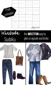 wardrobe sudoku planning a capsule wardrobe with unbiased