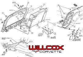 1972 corvette radiator 1969 1972 corvette radiator support mounting willcox corvette inc