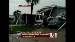 tornado damages homes in vero beach no injuries