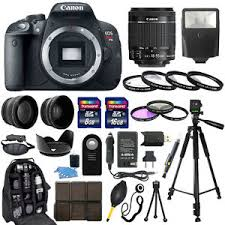 target black friday canon t5i canon eos rebel t5i slr camera 18 55mm stm lens 30 piece