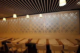 partition wall decorative panel mdf painted perforated room