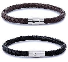 leather bracelet cuff women images Fibo steel 2 3pcs stainless steel braided leather bracelet for men jpg