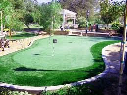 backyard putting green cups flags diy real grass size kit ideas