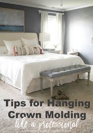 Hanging Pictures Tips For Hanging Crown Molding Like A Pro From A Non Pro