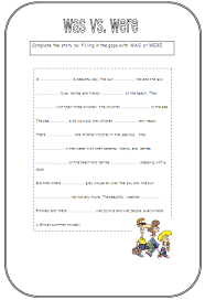 worksheets on was and were for grade 1 in letter with worksheets