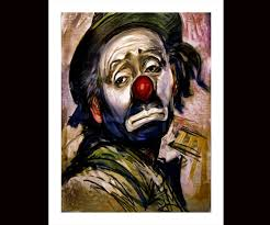 amazon com sad clown canvas art print oil paintings posters