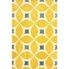 Yellow And Grey Runner Rug Nuloom Area Rugs Rugs The Home Depot