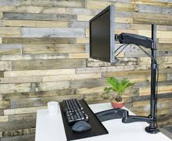 stand sit1 single monitor keyboard tray extra tall desk mount