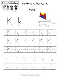 printable handwriting worksheets for kindergarten worksheets