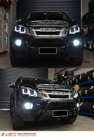isuzu dmax 2006 black 3d led stripe u0026 projector head lights for isuzu d max ute 12