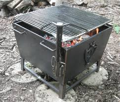 cowboy fire pit fascinating 31in charcoal grill fire pit rotisserie adjustable