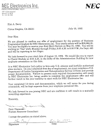 samples of cover letters for employment letter of employment what is