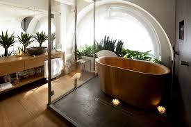 japanese wooden bathtub and asian bathroom style with long narrow