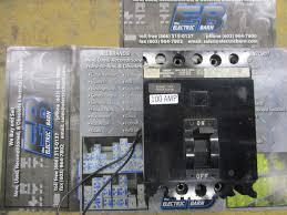 square d fal341001021 3 pole 100 amp 480 volt breaker with 120v