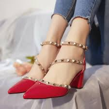 women pumps fashion new design rivets women sandals comfortable