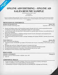 Sales Resume Example by Online Advertising Online Ad Sales Resume Resumecompanion Com