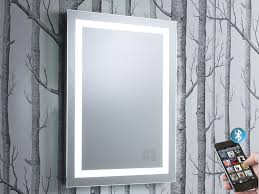 encore illuminated bluetooth bathroom mirror with speakers roper
