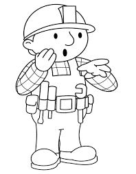 printable bob builder coloring pages coloring