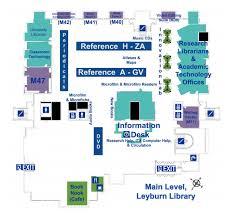 library floor maps the washington and lee university library leyburn library level main
