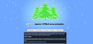 zsnow jquery html5 snow animation theme by zakukashi codecanyon
