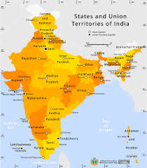 India On The World Map by State And Union Territories India Map Maps Of India