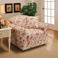 Pink Sofa Slipcover by Pink Floral Flower Jersey Sofa Stretch Slipcover Couch Cover Chair