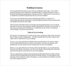 wording for wedding ceremony 19 wedding ceremony templates free sle exle format