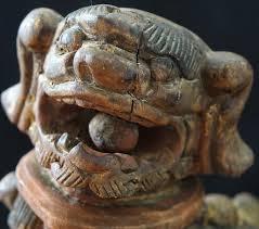 lion foo dog antique wood carved foo dog antiques