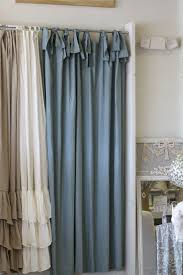 Curtains With Ties 74x90 Asw Shower Curtain With Ties Blue Linen Easy Ldlinens 275