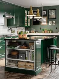 ikea colored kitchen cabinets a green fresh and traditional bodbyn kitchen ikea