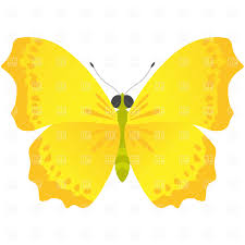 yellow butterfly vector clipart image 729 u2013 rfclipart